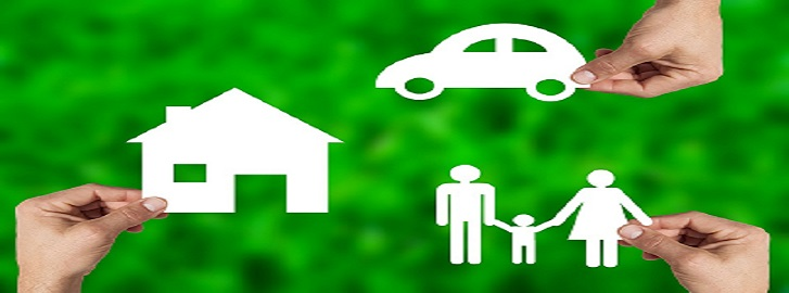 Picture of cut out house, family, and car