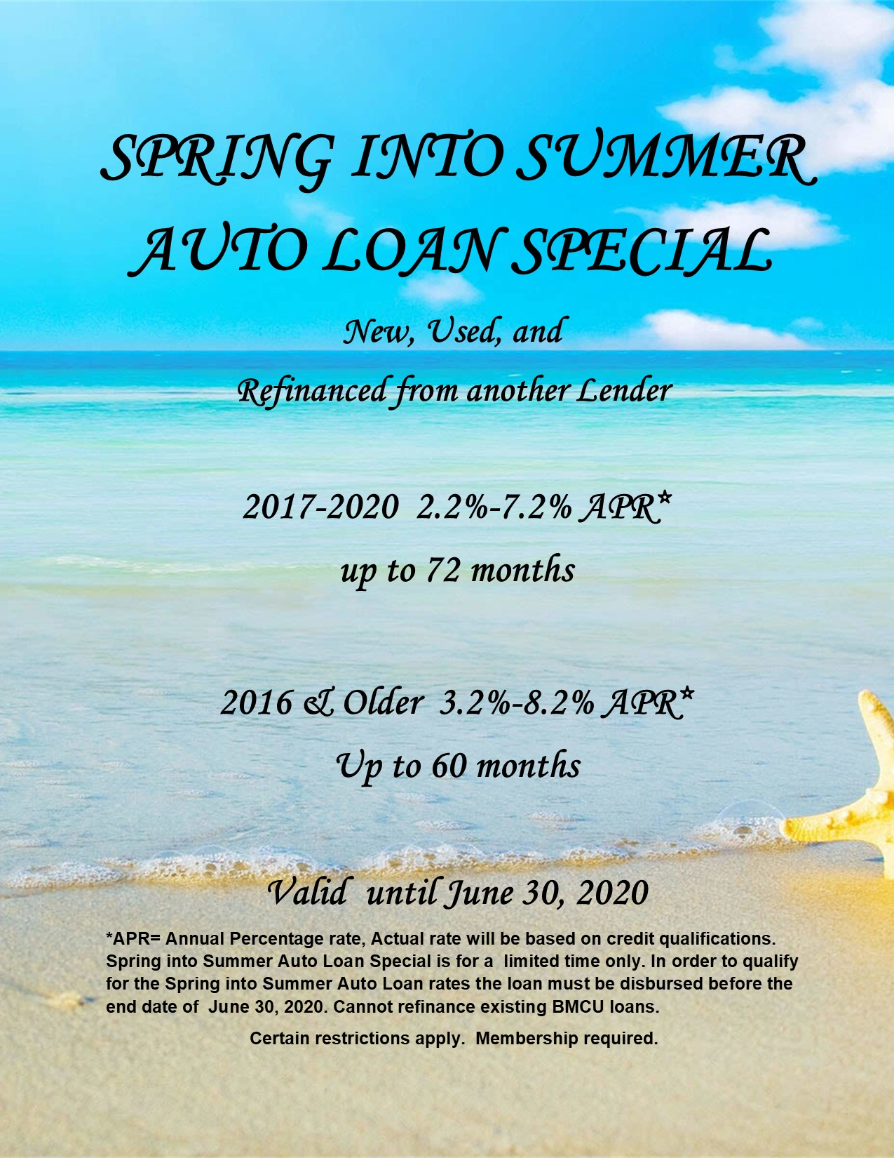 Spring into Summer Auto loan special 2020