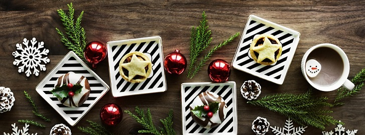 christmas cookies with hot cocoa